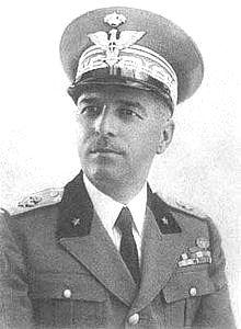 Il gen. Vittorio Ambrosio, capo di S.M Generale