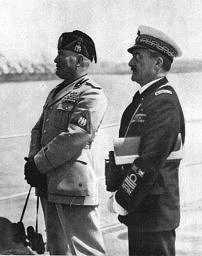 L'amm. Domenico Cavagnari, qui insieme a Mussolini