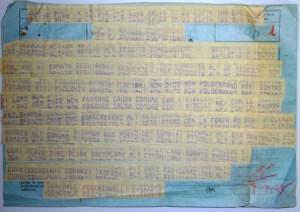Il telegramma cifrato diramato la sera dell'8.9.1943