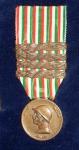 1918, Medaglia Commemorativa della Guerra Italo-Austriaca coniata nel Bronzo Nemico