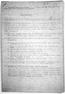 L'originale in tedesco della prima pagina del verbale