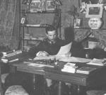 1910, al tavolo di lavoro a Torino