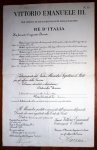 7.9.1905, Nomina a Sottotenente