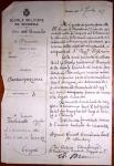 24.9.1905, comunicazione di nomina a Sottotenente