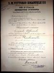 27.10.1938, Grand'Ufficiale Ordine della Corona d'Italia